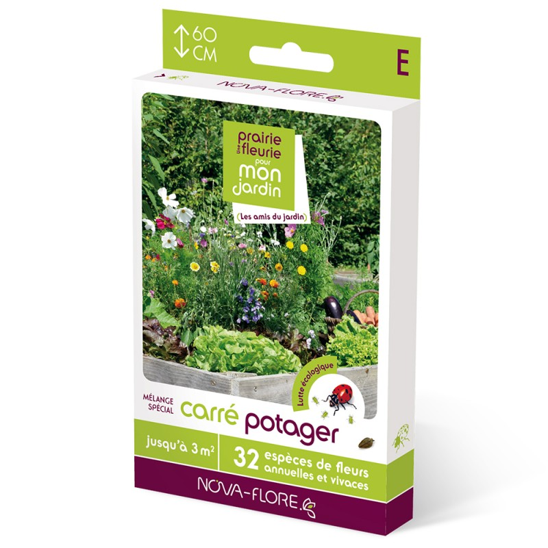 prairie fleurie pour carr potager 3m jardin biodiversit. Black Bedroom Furniture Sets. Home Design Ideas