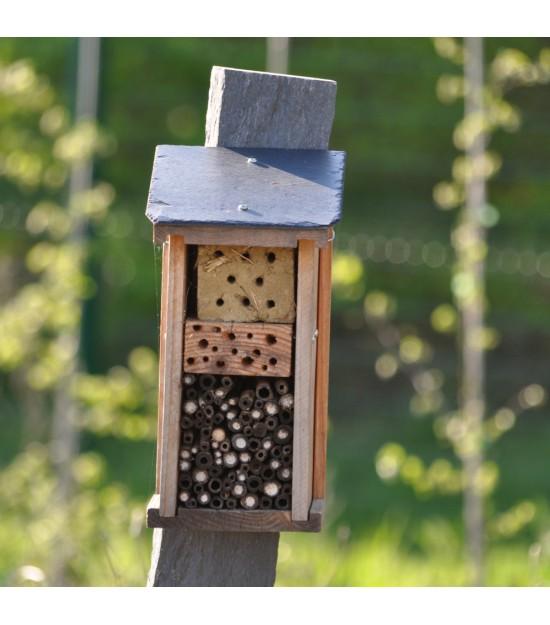 Gîte pour Pollinisateurs - Toit ardoise